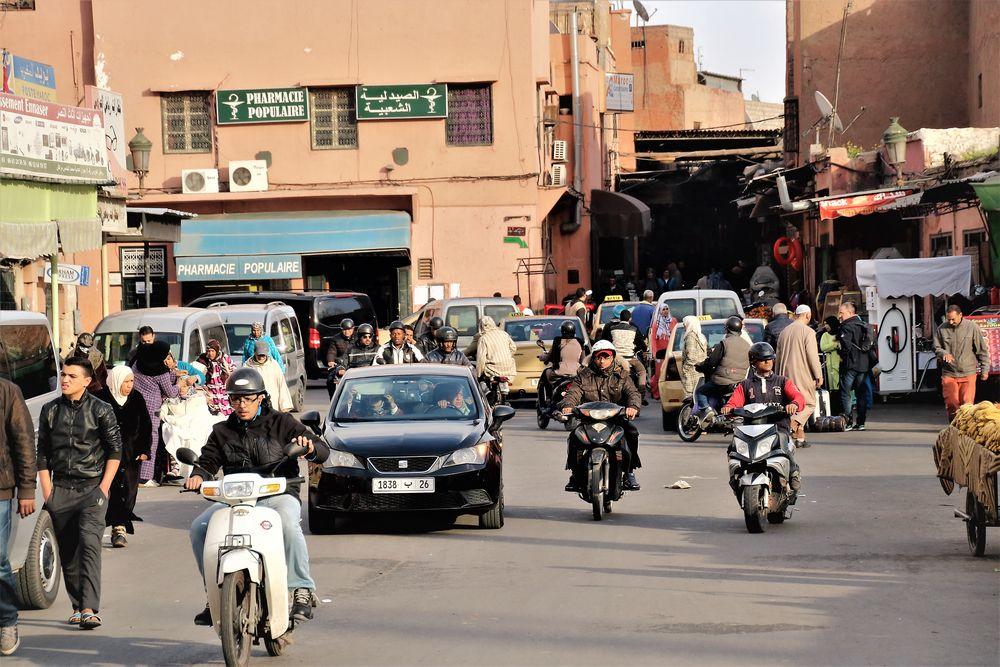 Tor Altstadt Marrakesch street M-39 +8Fotos