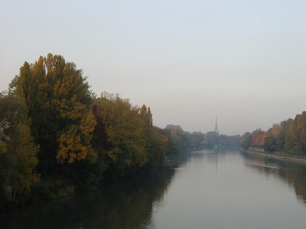 Torino, il Po a Novembre