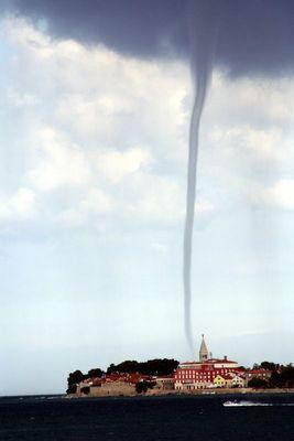 Tornado bei Novigrad, Istrien