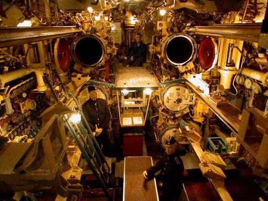 Torpedoraum des U434 in Hamburg