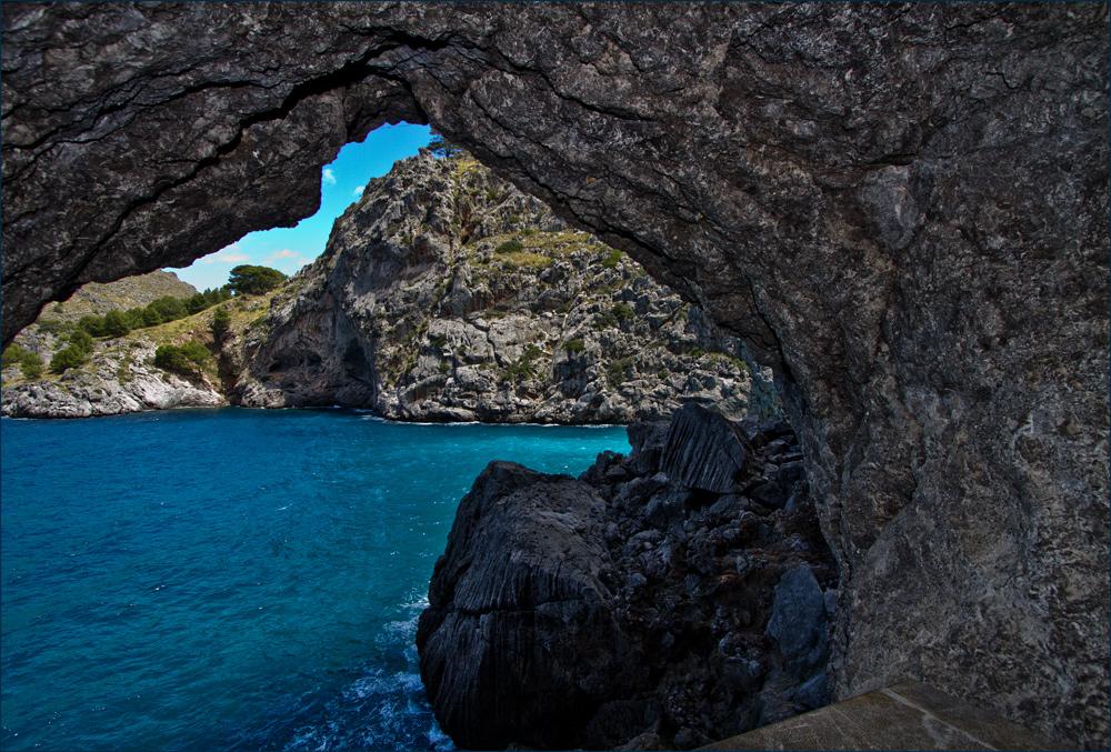 Torrent de parais, Blick aus dem Felsentunnel