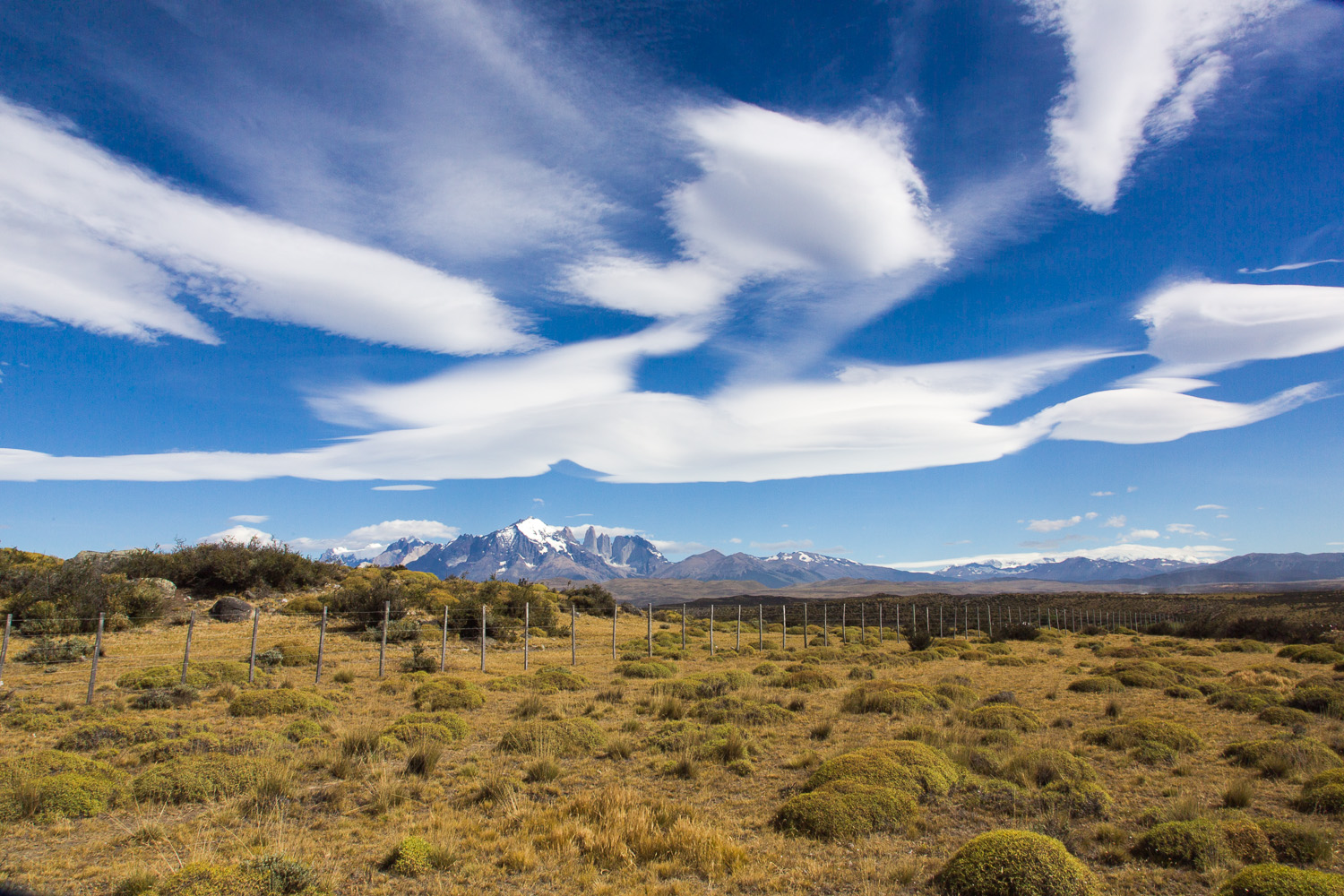 Torres del Paine mit Wolkenformation