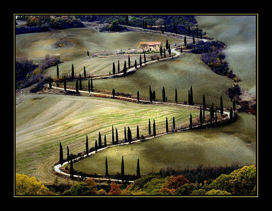 Toscana 03 - unbekannte Straße südlich von Sienna