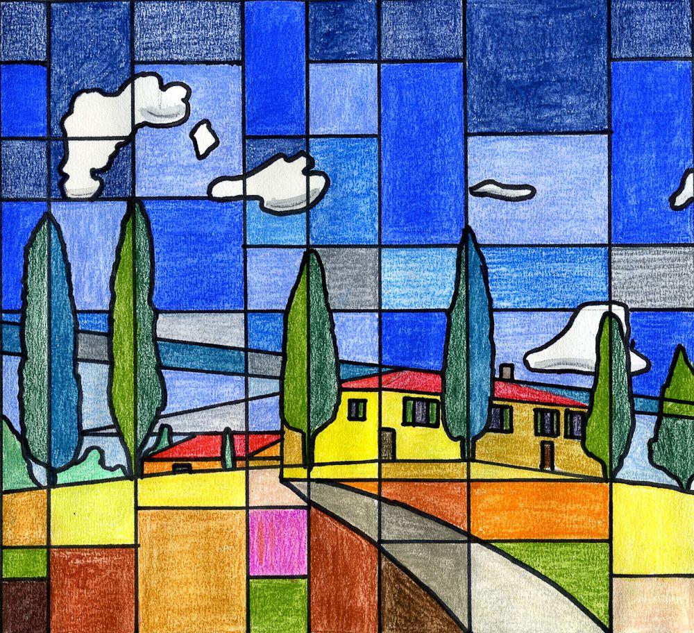 Toscana - kubistisch
