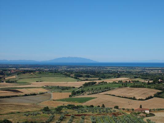 Toscana,Blick aufs Meer