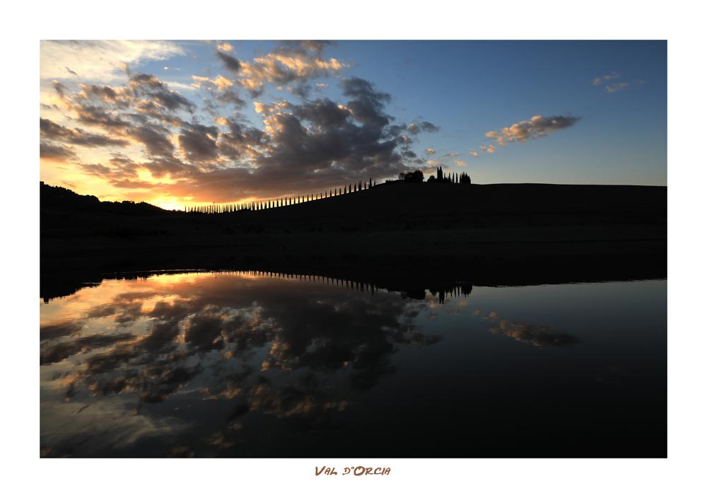 Toskana #10 Sonnenuntergang im Val d'Orcia