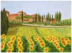 Toskana - Sonnenblumenfeld