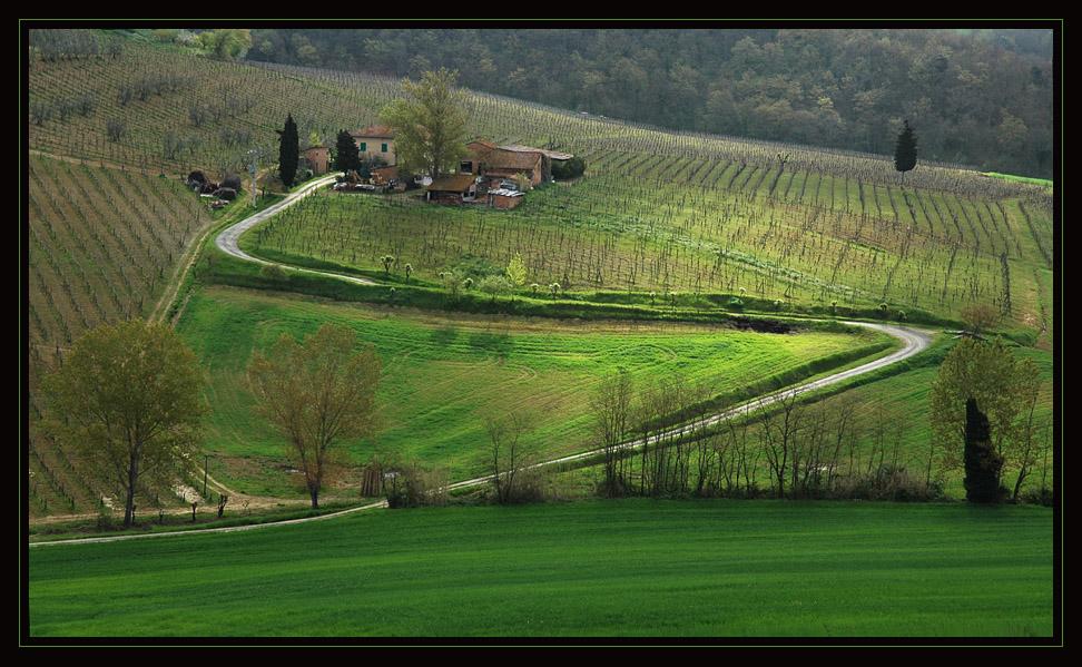 toskanische landschaft,