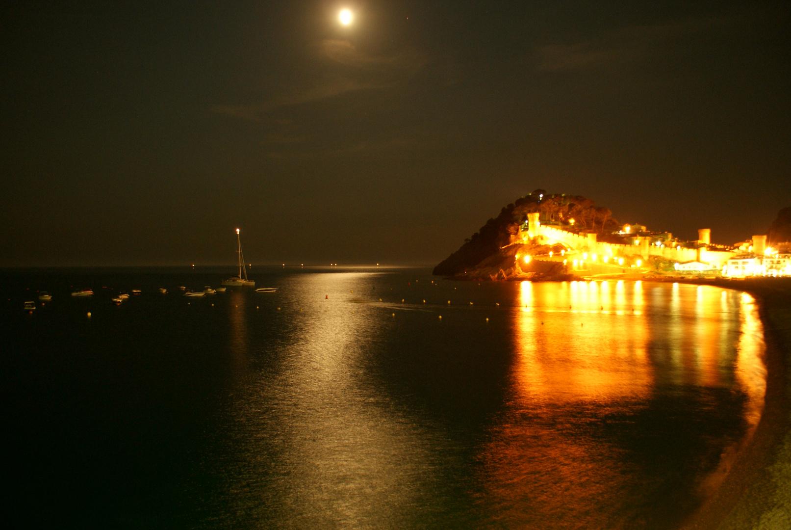 Tossa del Mar bei Nacht
