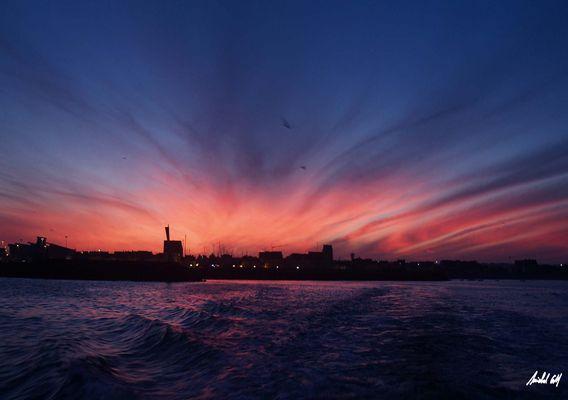 tôt matin en mer