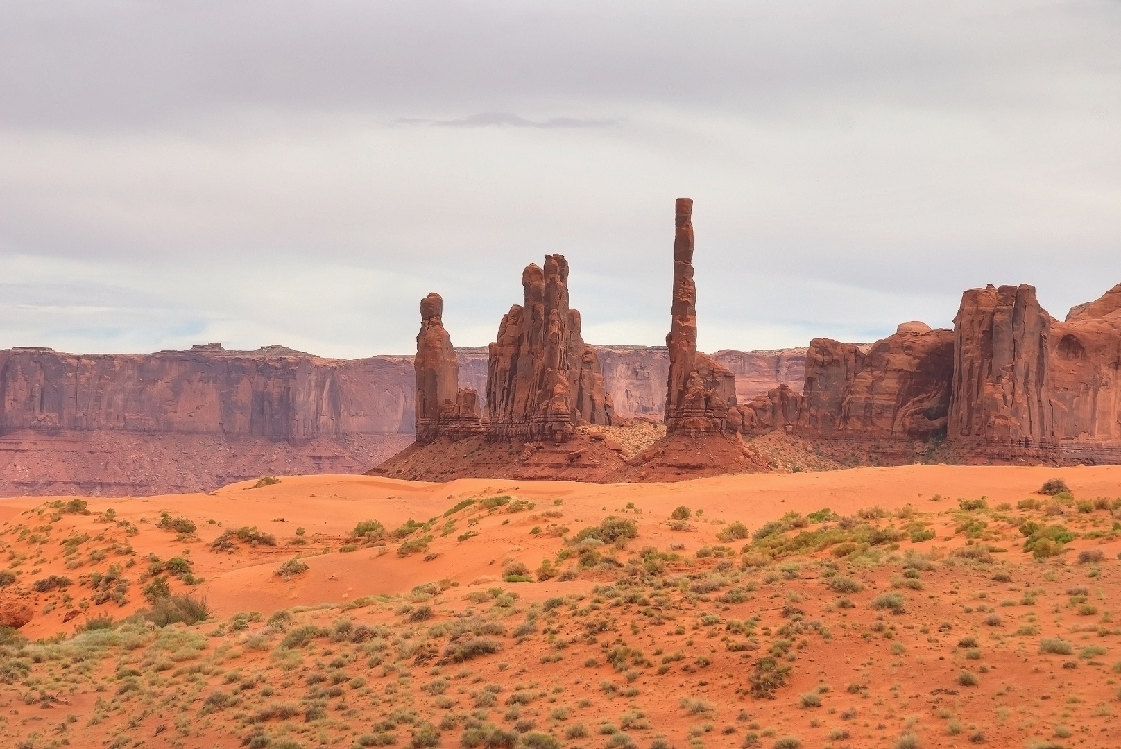 Totem Pole formation in Monument Valley Navajo Tribal Park