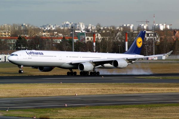 Touchdown... A340-600 in TXL