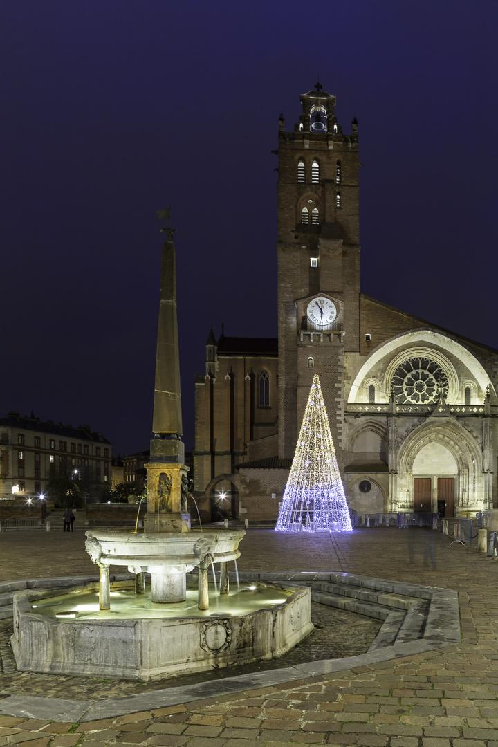 TOULOUSE (France), illuminations Noël 2017