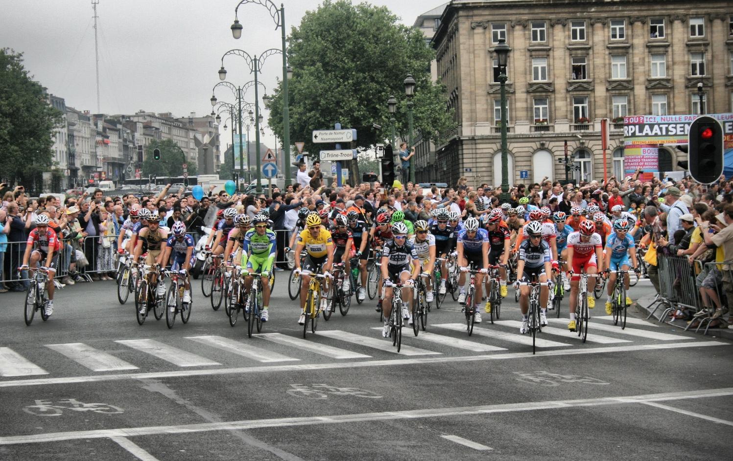 Tour de France in Brüssel am 05.07.2010