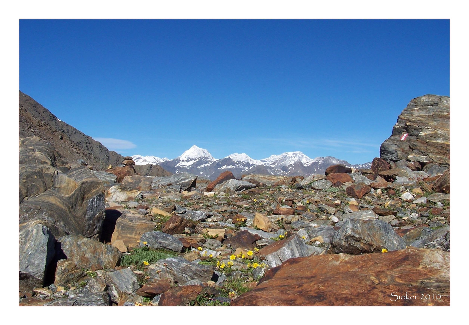 Tour zur Zufrittspitze auf 3439 m ...