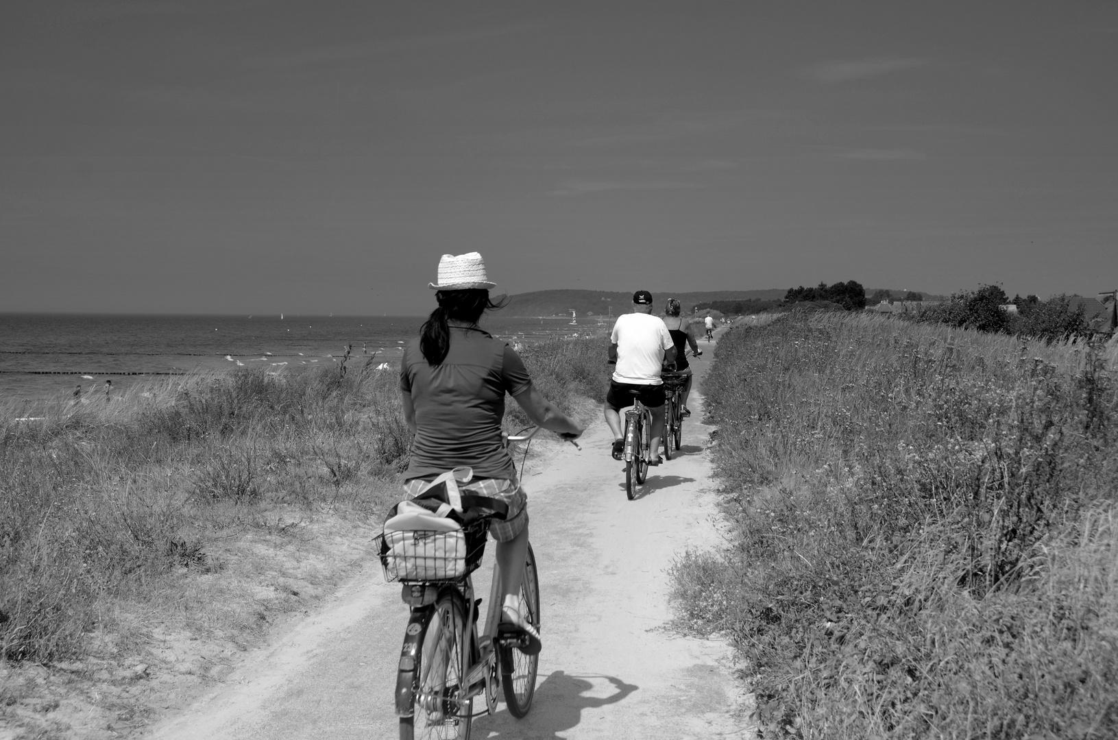 Touris auf dem Rad