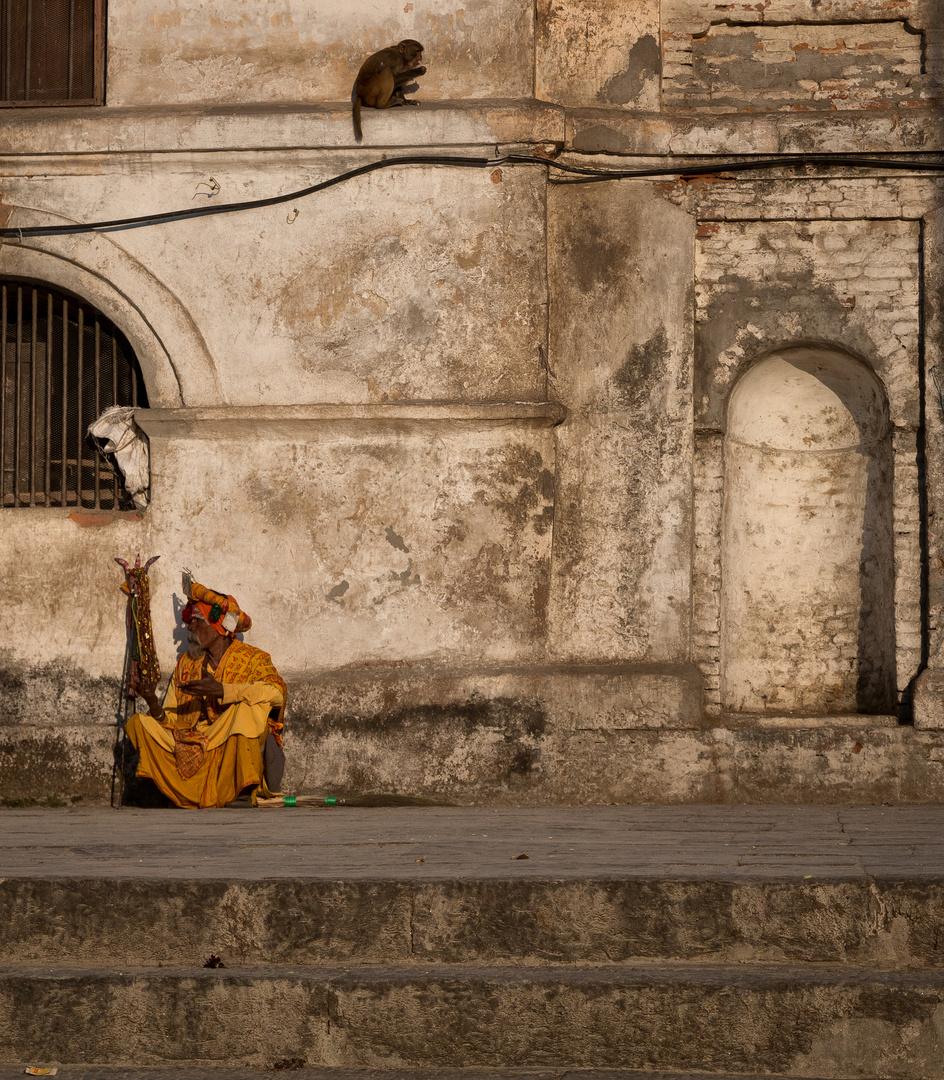 Touristen-Sadhu