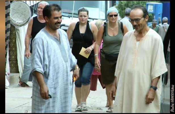 Touristes à Tafraout