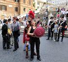 """""""Touristisches Theater"""" an der Spanischen Treppe in Rom"""