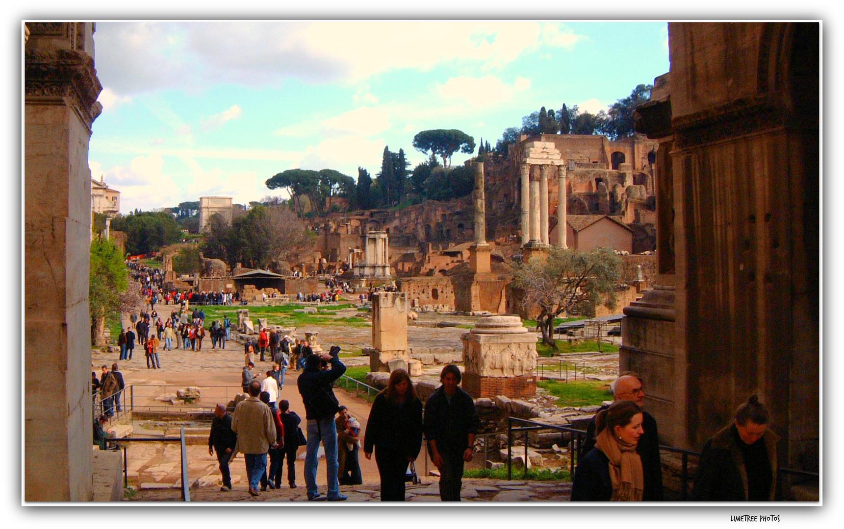 Tourists in Forum Romanum