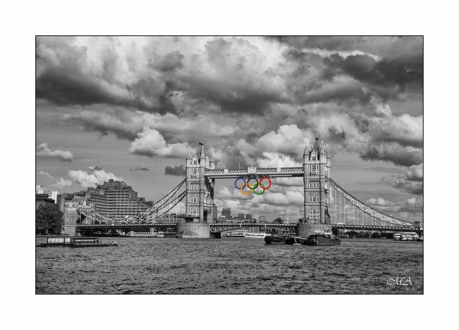 Tower Bridge ganz olympisch