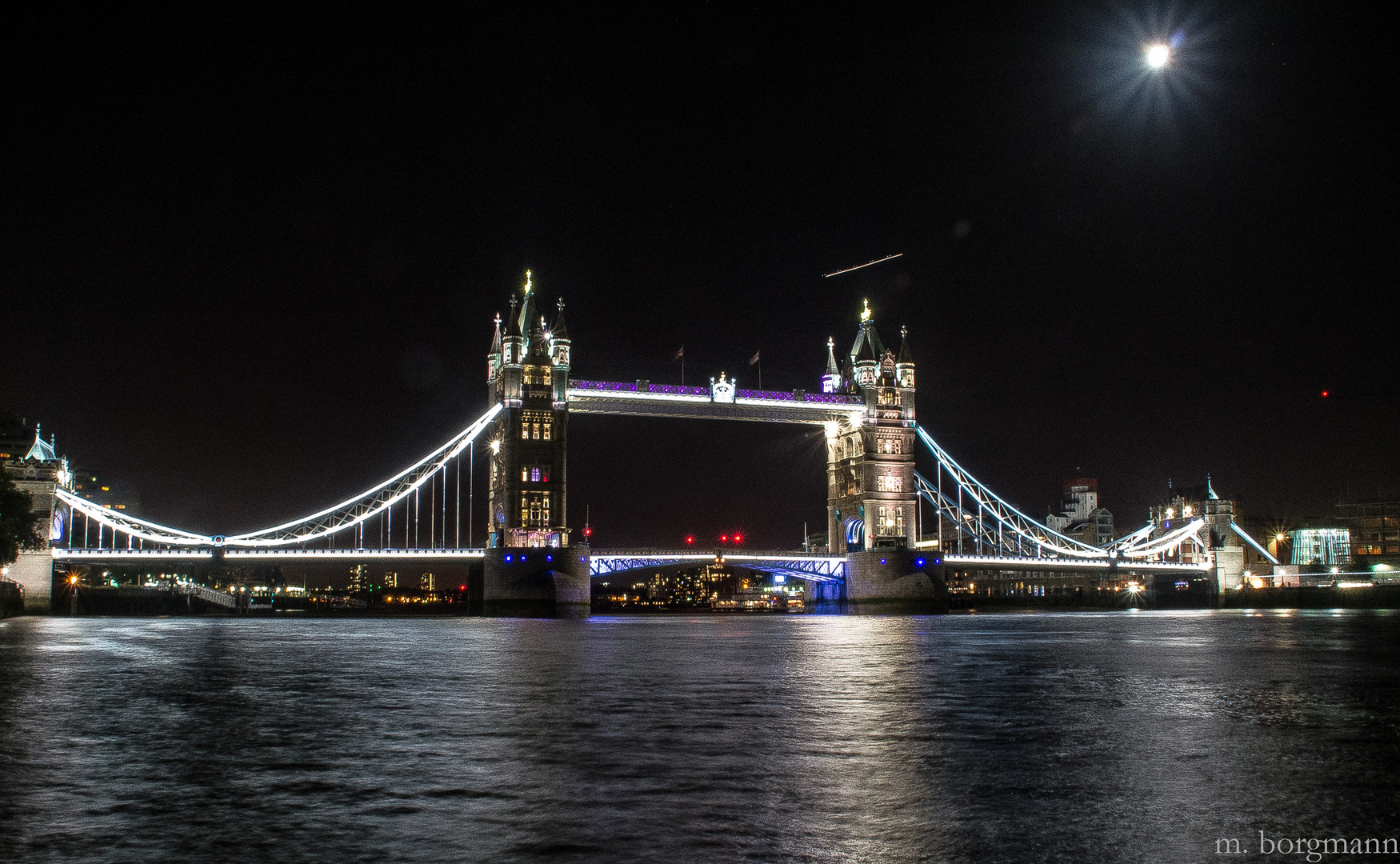 Tower Bridge London by night