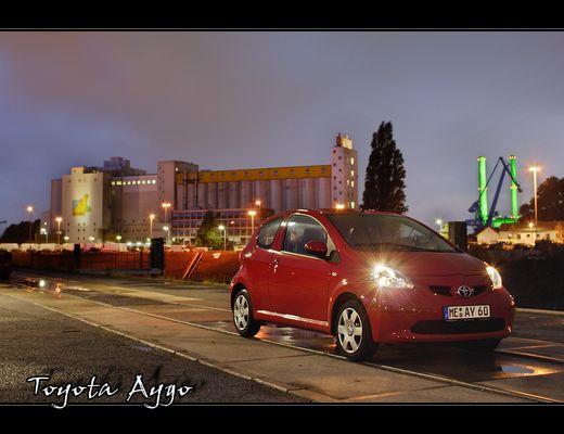 Toyota Aygo im Hafen