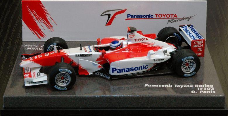Toyota F1 TF103 Olivie Panis Modell Maßstab 1:43