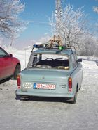 Trabant im Winter