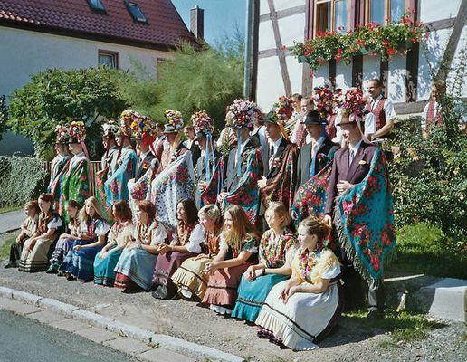 Trachtenkirmes in Metzels/ bei Meiningen