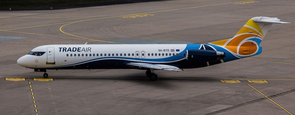 TRADEAIR Fokker 100 9A-BTD 2