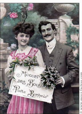 Tradition d'offrir du MUGUET le 1er MAI en guise de PORTE-BONHEUR