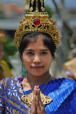 Traditionally dressed girl