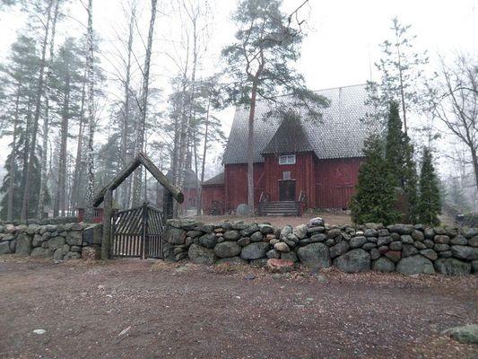 traditionelle finnische Holzhäuser