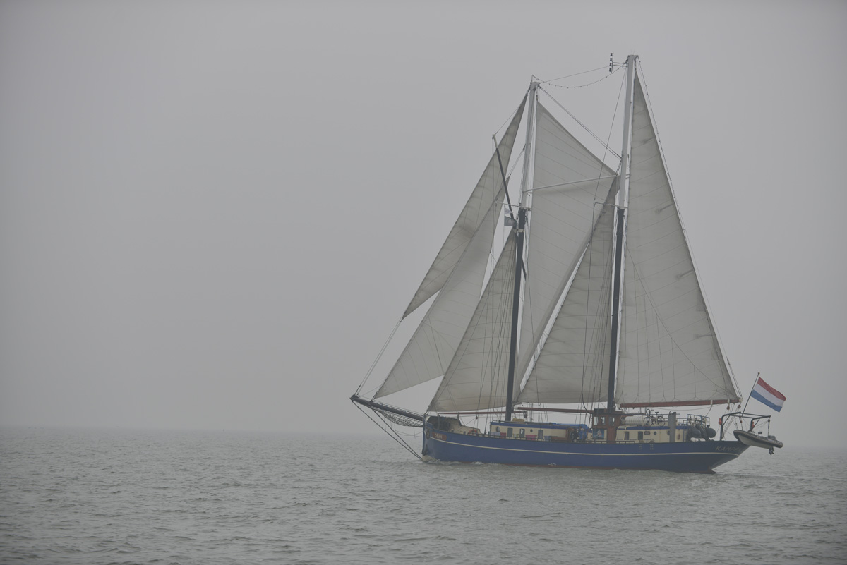 Traditioneller Segler auf dem Jisselmeer