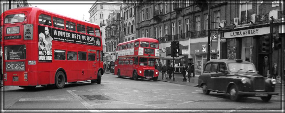 Traffic jam at Oxford Street