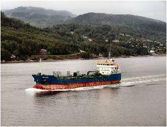 Trafico al fiordo di Oslo.