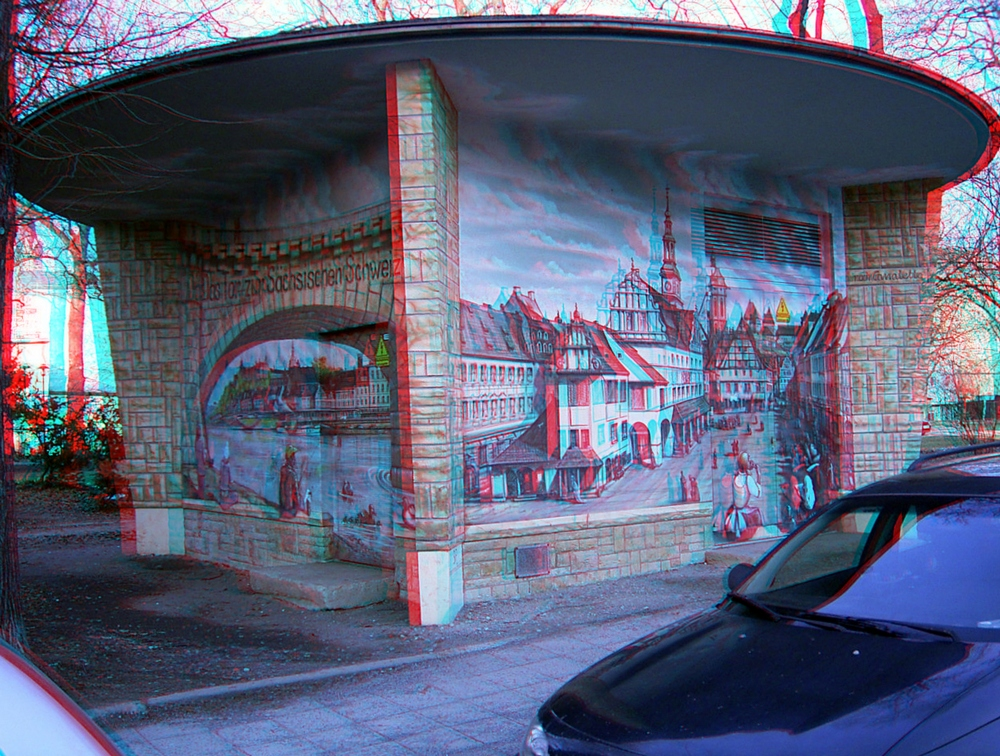 Trafohaus Anaglyphen 3D