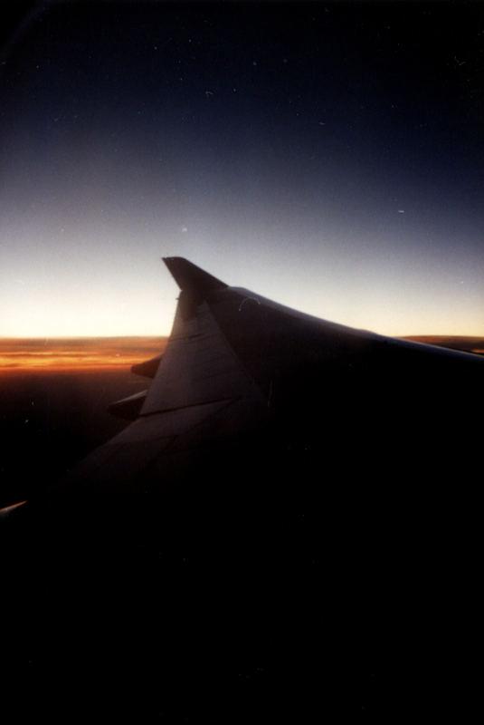 Tragfläche Boing 747 + Horizont