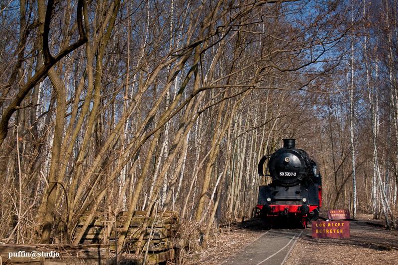 Train at Naturpark Südgelände