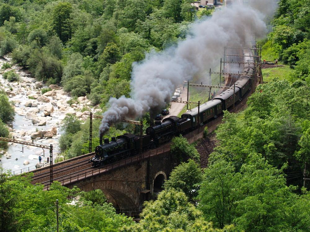 Train Historique des SBB-CFF a Biaschina