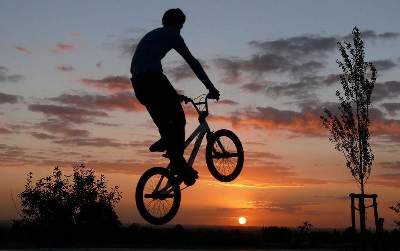 Training bis die Sonne untergeht