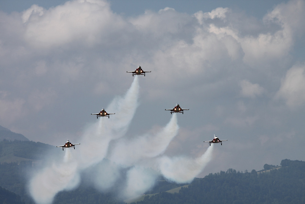 Training der Patrouille Suisse