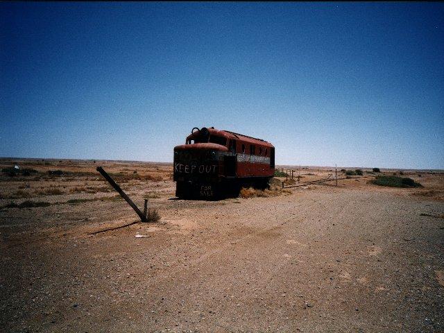 Trains end / Alte Eisenbahnlinie von Darwin nach Adelaide