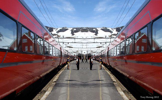 Trains rouges