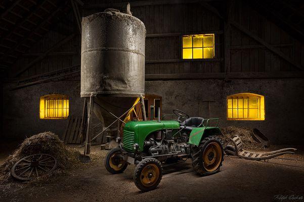 Traktor I - lightpainting