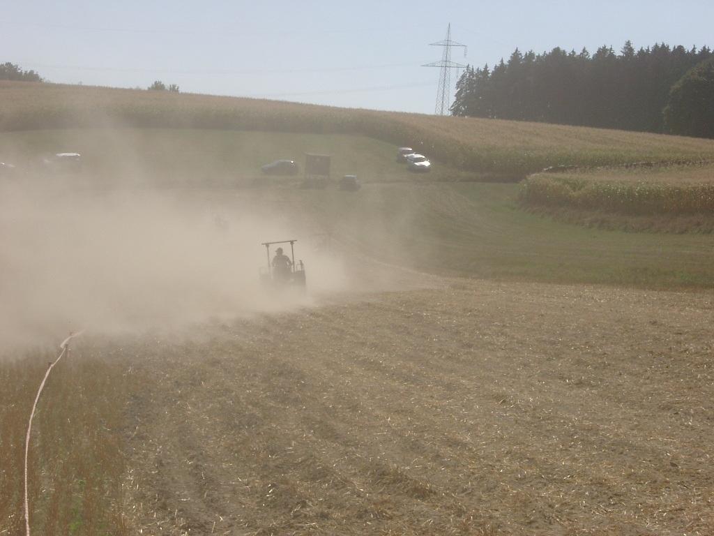 Traktor und es staupt