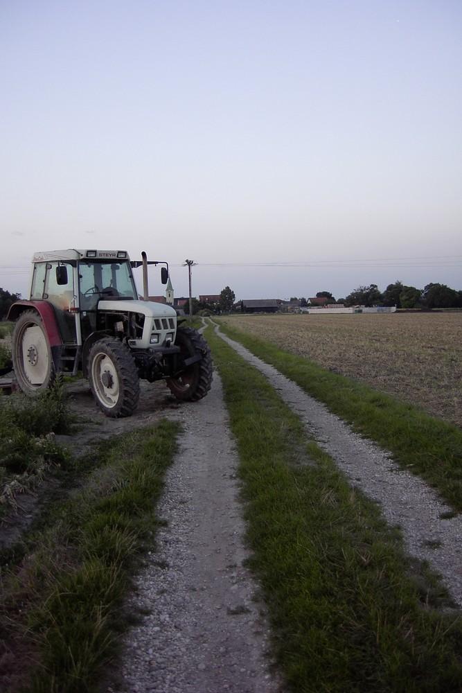 Traktor vergessen? oder Feld zu klein?