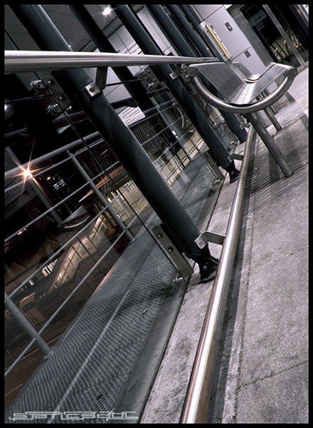 tram stop bench