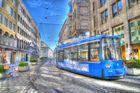 trambahn am anfang der maximilianstrasse